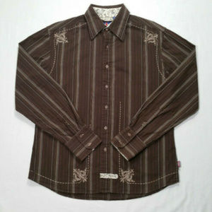 ENGLISH LAUNDRY Men Button Front Shirt 2778E2